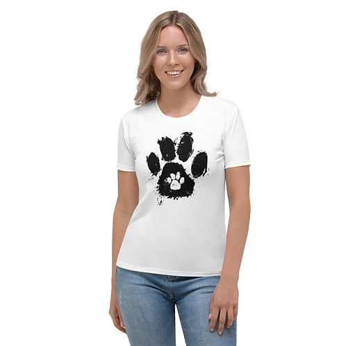 TW154 - PAW PRINT ALL OVER UNISEX T-SHIRT PRINTFUL TEMPLATE FILE