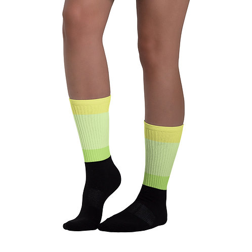 SK010- STRIPES PRINT FOR BLACK FOOT SOCKS PRINTFUL TEMPLATE FILE