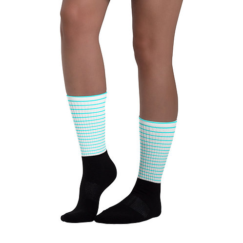 SK02- STRIPES PRINT FOR BLACK FOOT SOCKS PRINTFUL TEMPLATE FILE