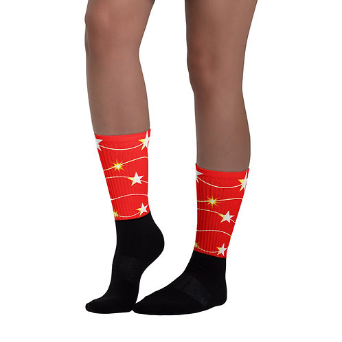 SK250- STARS PRINT FOR BLACK FOOT SOCKS TEMPLATE FILE