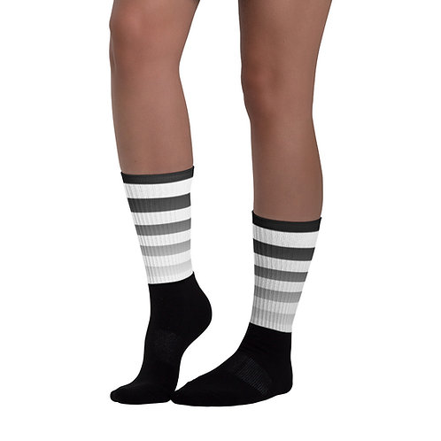 SK011- STRIPES PRINT FOR BLACK FOOT SOCKS PRINTFUL TEMPLATE FILE