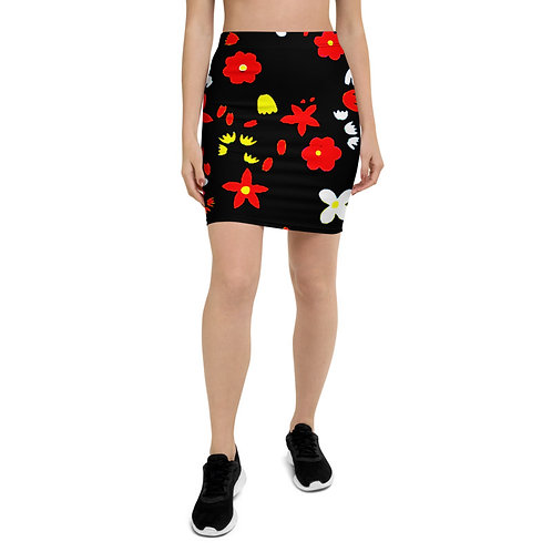 PS14 - FLOWERS DESIGN FOR PENCIL SKIRTS TEMPLATE FILE