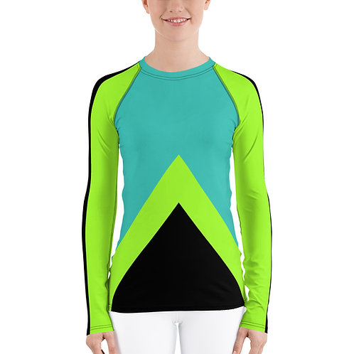 RG03- SPORTY COLORS PRINT FOR UNISEX RASH GUARD PRINTFUL TEMPLATE FILE