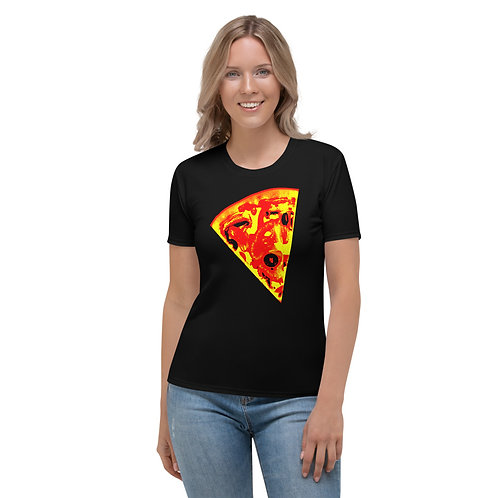 TW133 - PIZZA SLICE BURN PAPERS ALL OVER UNISEX T-SHIRT PRINTFUL TEMPLATE FILE
