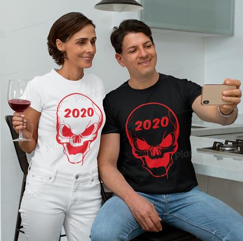 TW101 - SKULL 2020 UNISEX T-SHIRT PRINTFUL TEMPLATE FILE