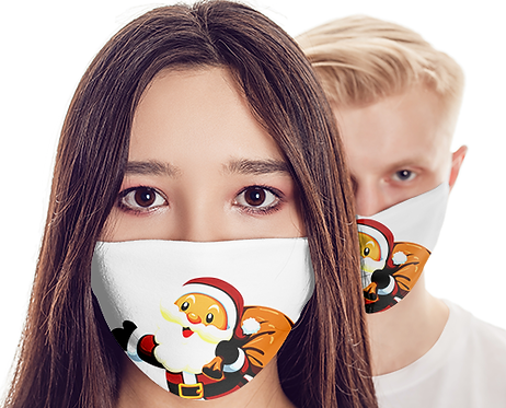 M017 - SANTA CLAUS MASK READY DESIGN TEMPLATE FILE