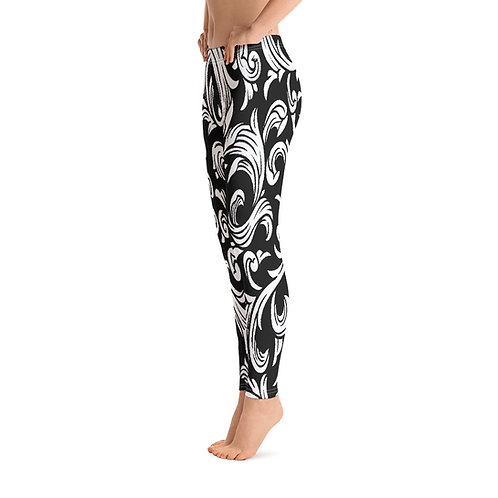 L571 - DAMASK LEAF ART LEGGINGS READY DESIGN PRINTFUL TEMPLATE FILE
