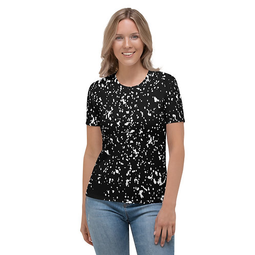 TW169 - WHITE SPOTS TEXTURE PRINT ALL OVER T-SHIRT TEMPLATE FILE