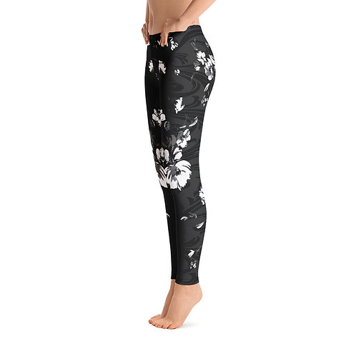 L574 - FLORAL DAMASK LEAF ART LEGGINGS READY DESIGN PRINTFUL TEMPLATE FILE