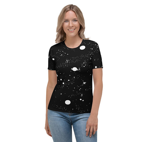 TW164 - UNIVERSE AND STARS PRINT ALL OVER T-SHIRT TEMPLATE FILE
