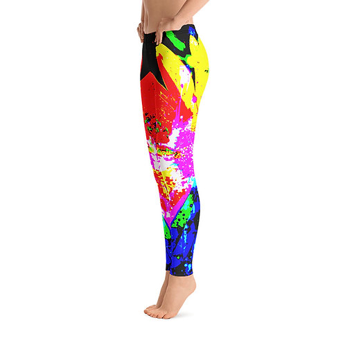 L515 - FLORAL COLORFUL LEGGINGS READY DESIGN PRINTFUL TEMPLATE FILE