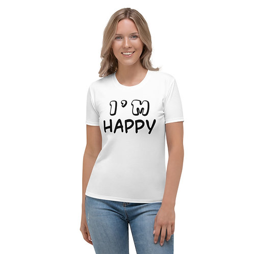 TW149 - I'M HAPPY PRINT ALL OVER UNISEX T-SHIRT PRINTFUL TEMPLATE FILE