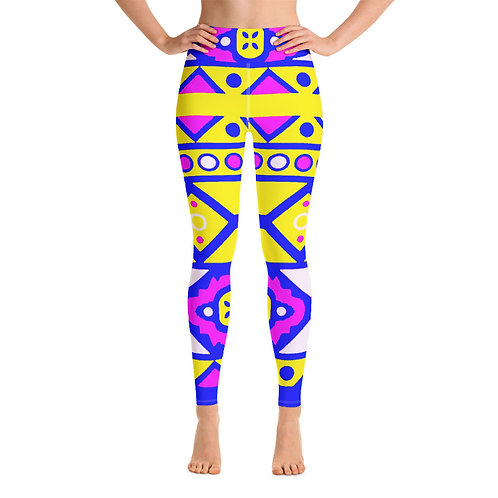 SL163-AFRICAN ART YOGA LEGGINGS+SPORTS BRA SET PRINTFUL TEMPLATE FILE