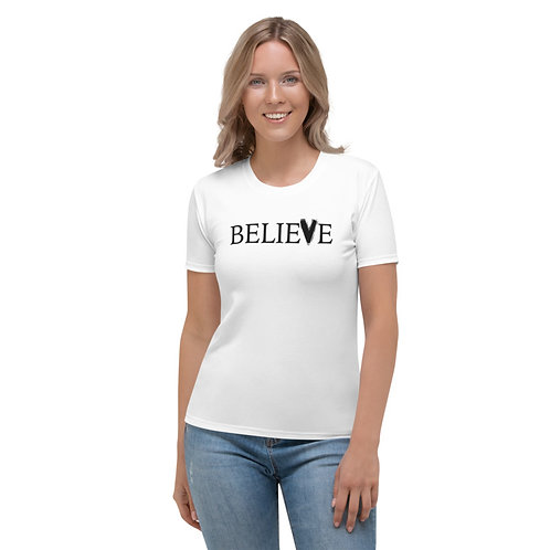 TW150 - BELIEVE PRINT ALL OVER UNISEX T-SHIRT PRINTFUL TEMPLATE FILE