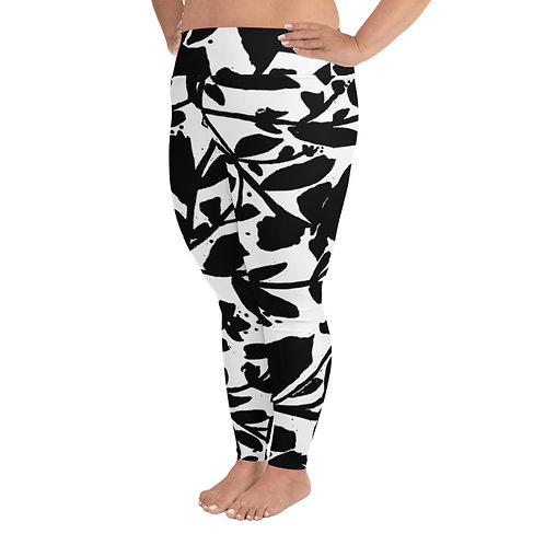 PS034- FLORAL PRINT FOR PLUS SIZE LEGGINGS TEMPLATE FILE