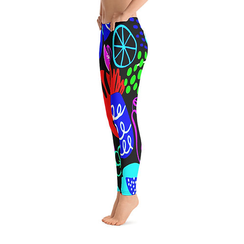 H487- POPART SUMMER ARTWORK FOR ALL OVER PRINT LEGGINGS TEMPLATE