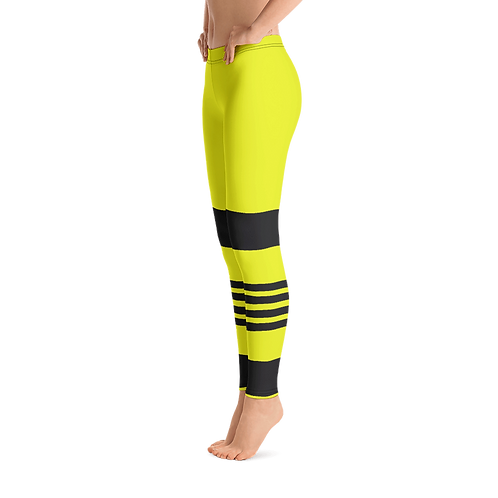 F769 - STRIPE LINES LEMON GREEN LEGGINGS PRINTFUL TEMPLATE FILE