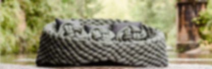 sofá maxi tricô