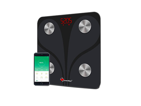 PowerMax Fitness® Bluetooth Body Fat Scale - Smart BMI Digital Bathroom Wireless Weight Scale & Body