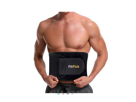 FIT PICK Sweat Slim Belt | Slimming Belt | Tummy Trimmer Exerciser | Waist Trainer for Men and Women