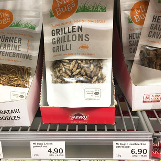 Try out insects at Migros