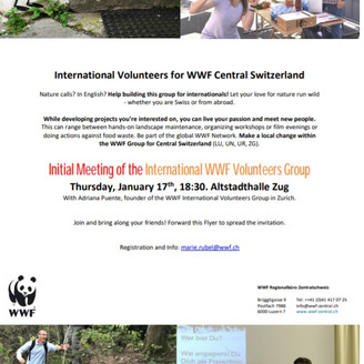 WWF launches an English-speaking Volunteers Group in Central Switzerland