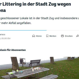 More littering in Zug because of Corona?