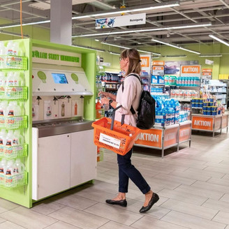 Migros tests a station to refill detergent bottles