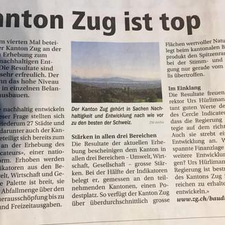 Kanton Zug ist top!