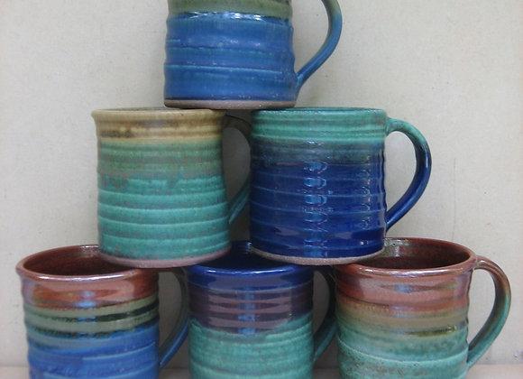 Colorful Stoneware Mugs
