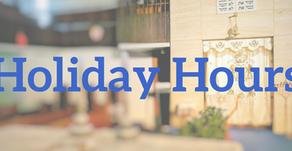High Holidays hours
