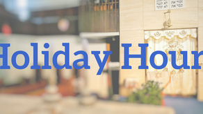 High Holidays hours