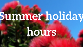 Summer holiday hours 2018/2019