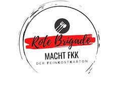Rote Brigade Shop Karton Lieferdienst Catering