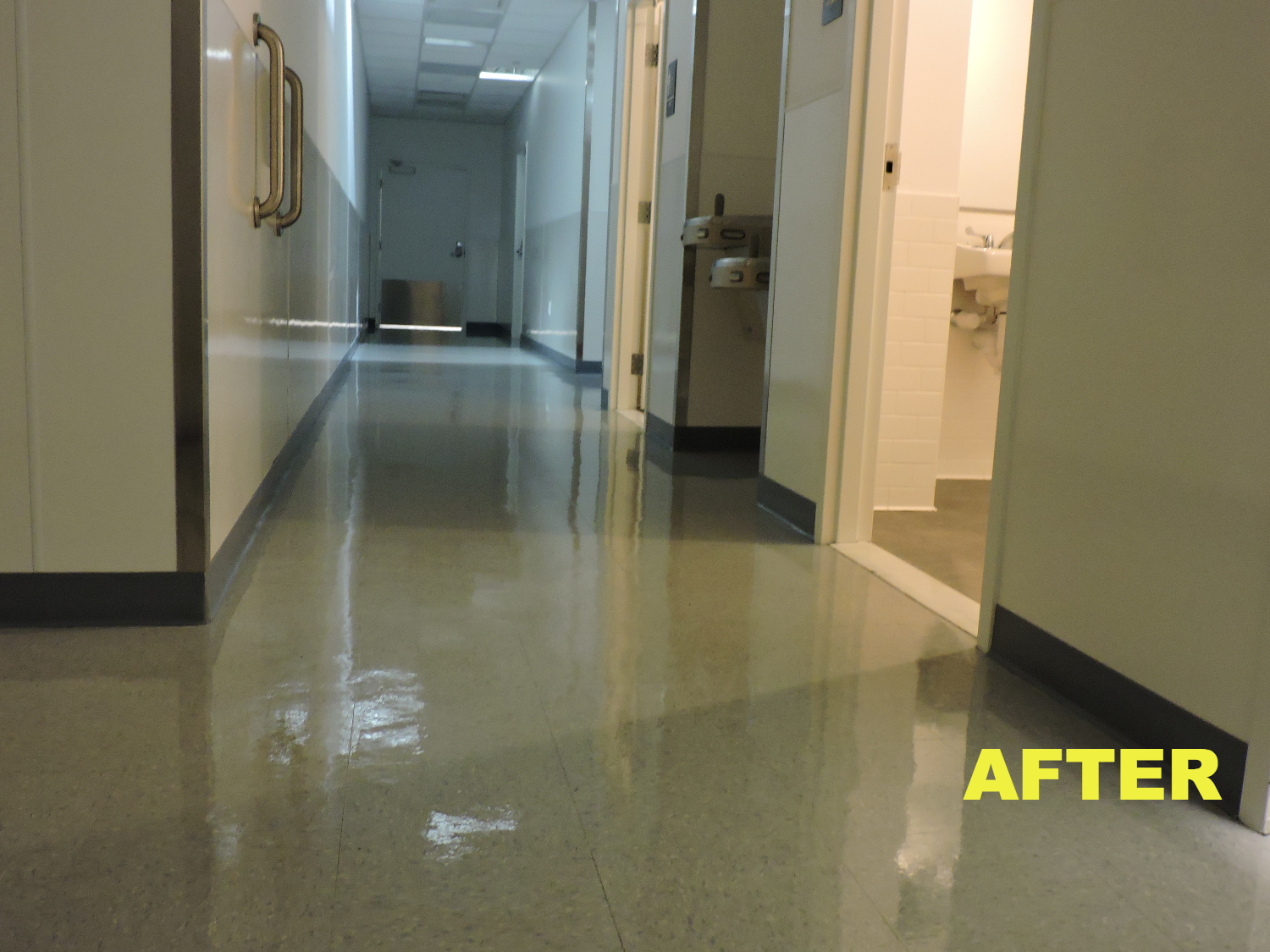 Construction clean and floor wax