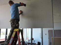 Metal stud drywall