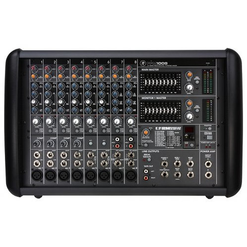 MACKIE PPM1008 1600WATT POWERED 8-CHANNEL MIXER WITH EFFECTS