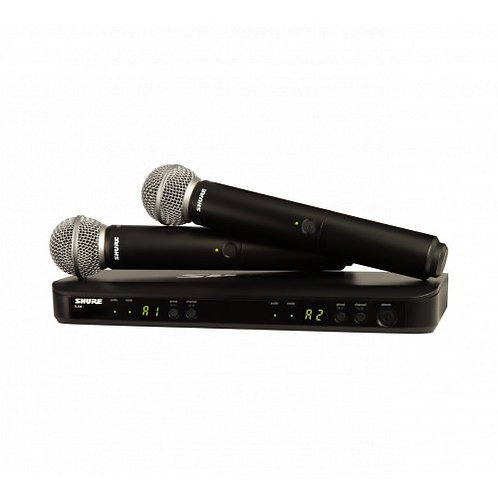SHURE BLX288/SM58 DUAL WIRELESS HANDHELD MIC SYSTEM (FREQ: H9) Model: BLX288/SM5