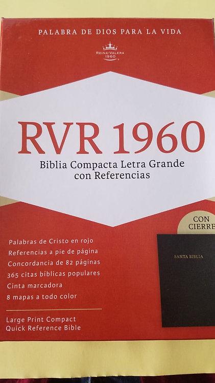 RVR 1960 Biblia Compacta Letra grande, Tapa blanda