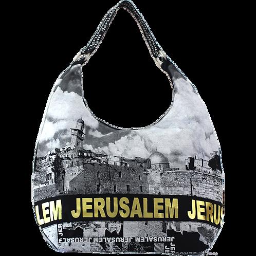 Kotel Hobo Bag with Jerusalem Gold Foil