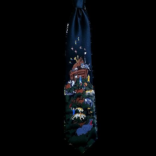 Black Noah´s Ark Neck Tie