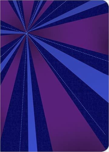 RVR 1960 Biblia Compacta Letra Grande, rayos de azul/violeta símil piel con índi
