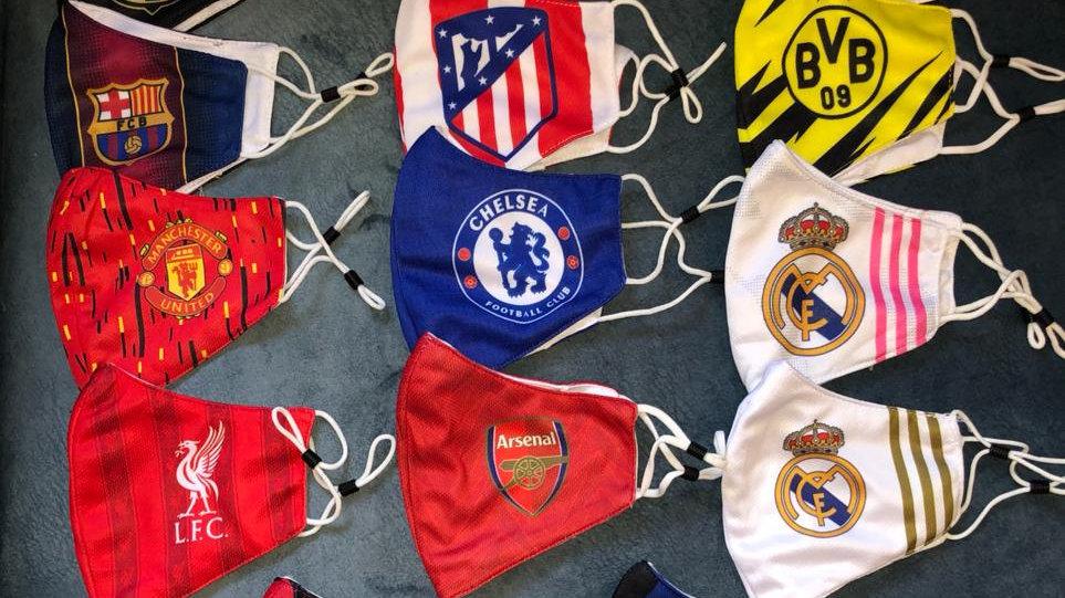 מסכות פה בעיצוב קבוצות הכדורגל החזקות באירופה