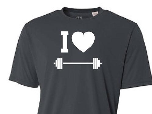 I LOVE WEIGHTS DRI-FIT