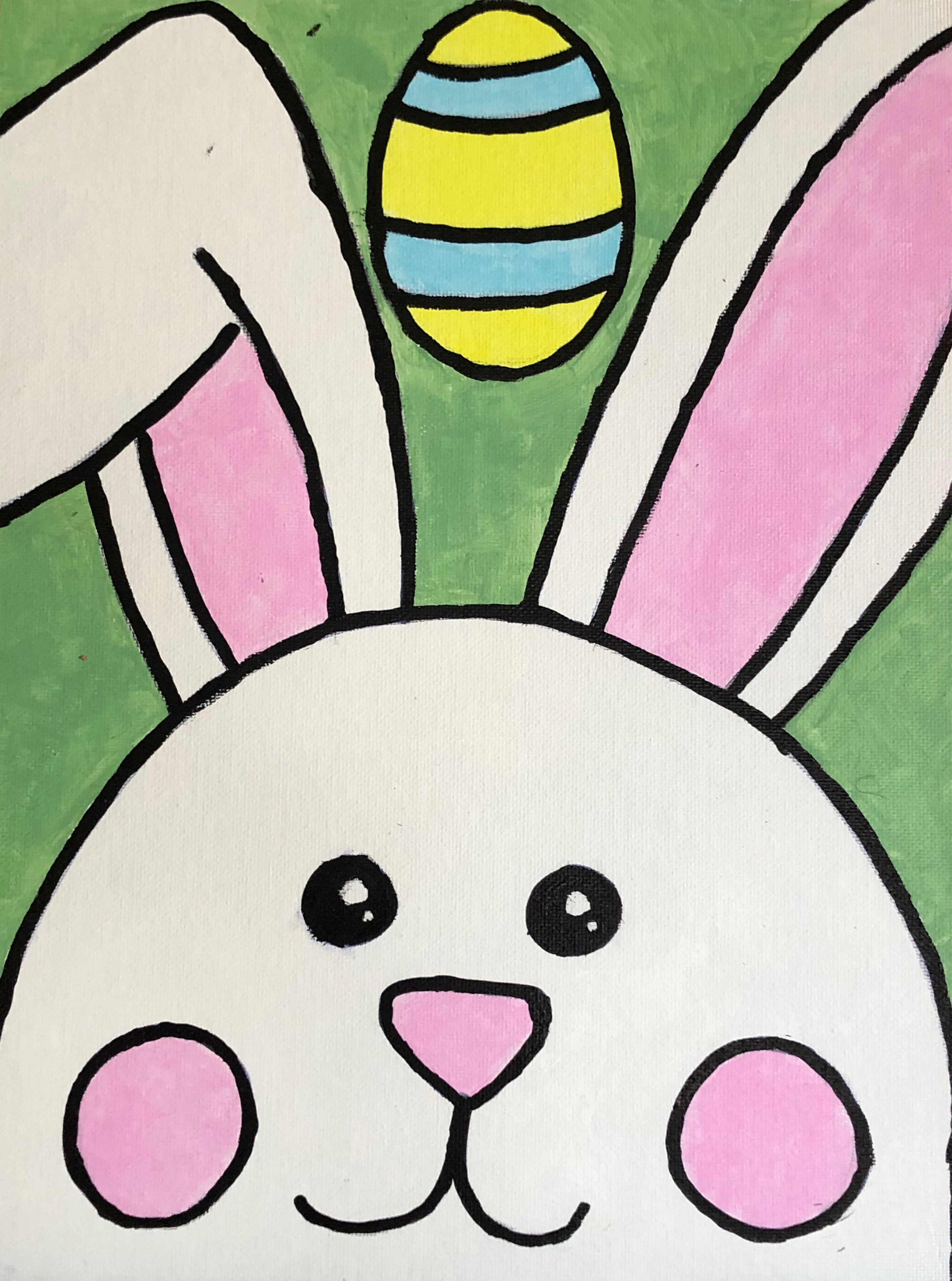 Bunny Painted by Ella