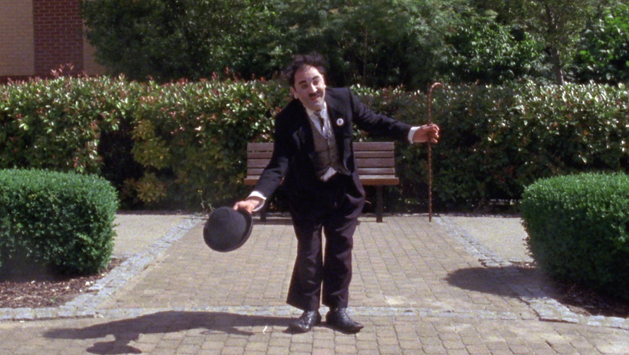 Diego Spano como Chaplin rodando el cortometraje de Miguel Faus Visiting Charlie