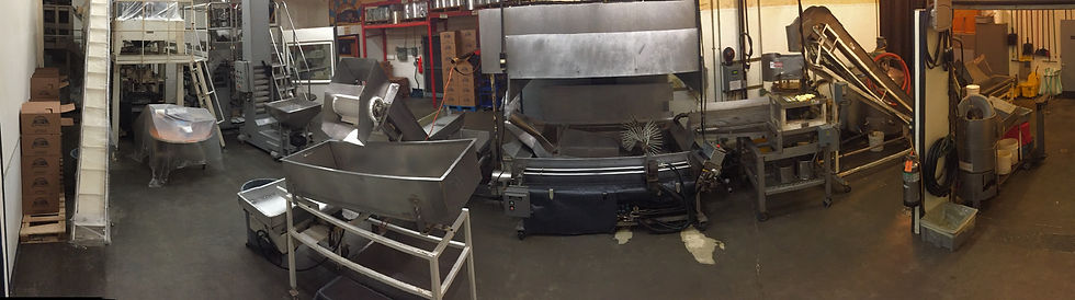 This is a panorama picture of the factory equipment seet up for production