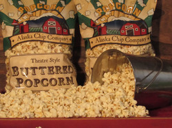 closeup picture of popcorn