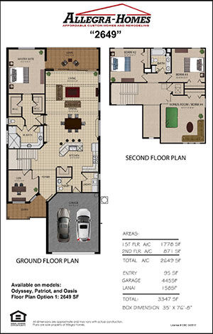 Floor Plan from Award-Winning Custom Home Builder