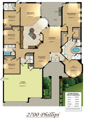 Functional Custom Home Floor Plan